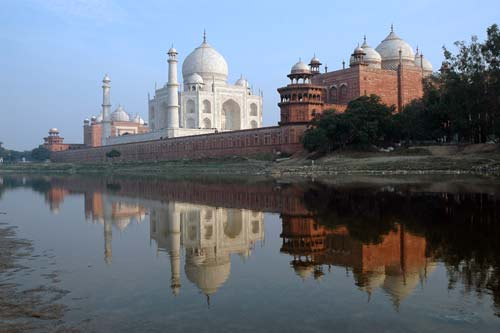 taj reflection-asia photo stock