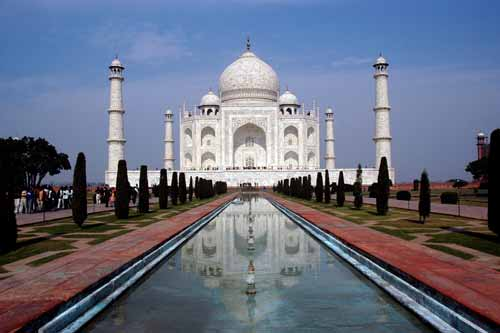 taj mahal agra view-asia photo stock