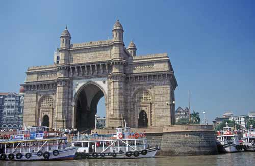 bombay gate india-asia photo stock