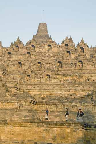 borobudur in sunlight-AsiaPhotoStock