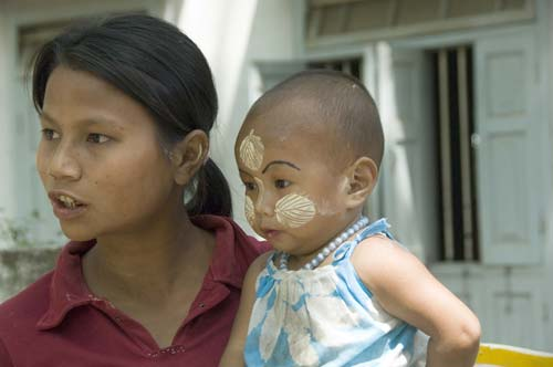 face powder on child-AsiaPhotoStock