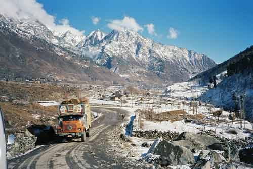 kashmir snow-asia photo stock