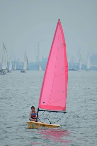 pink sail-asia photo stock