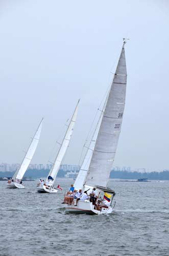 sails ambassadors cup-asia photo stock