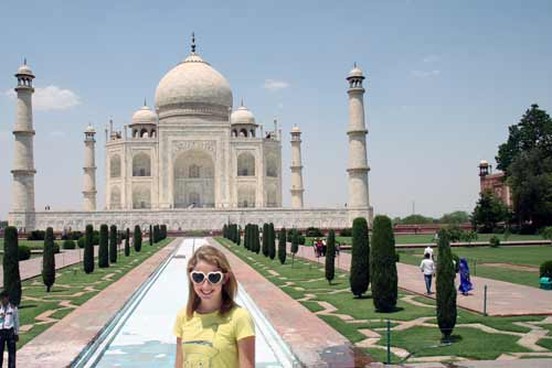 tourist taj mahal-asia photo stock