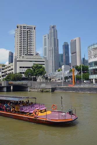 singapore river and cbd-asia photo stock