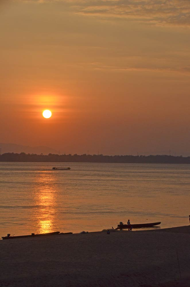 sunset in pakse-AsiaPhotoStock