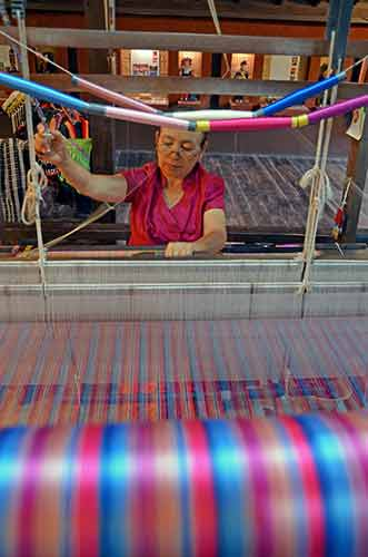 thai silk making loom-AsiaPhotoStock