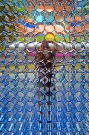 colourful glass tubes-asia photo stock