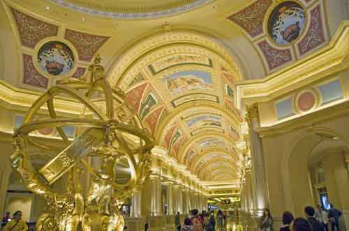 venetian casino ceiling-asia photo stock