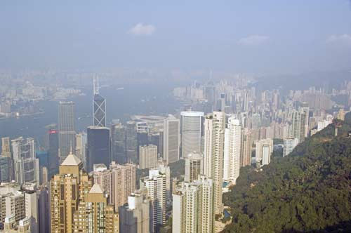 view hong kong-asia photo stock