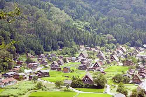 viewpoint shirakawa go-asia photo stock