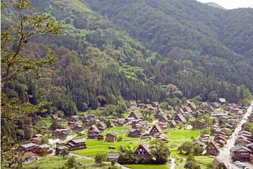 village of shirakawa go-asia photo stock