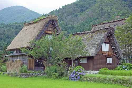 village shirakawa go-asia photo stock