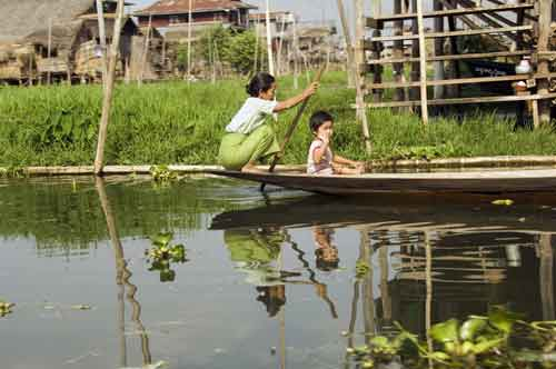 water village-asia photo stock