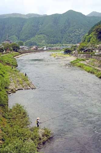 yoshida river gujo-asia photo stock